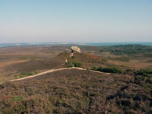 Hardy's real and imagined Dorset heathland is now largely built over. The area to the south, near Studland Bay, shows us what Hardy saw.