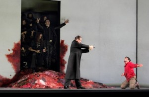 Matthew Polenzani (Idomeneo) and Franco Fagioli (Idamante). Photo (C) Catherin Ashmore/ROH