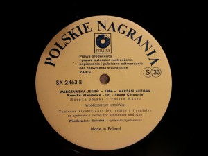 You won't find this on Spotify: a Polskie Nagrania LP, yesterday.