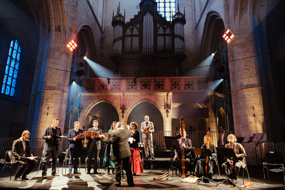 The Huelgas Ensemble perform The St John Passion. Photo: www.michaelramus.com