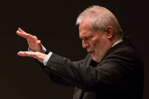 Hungarian conductor Peter Eötvös, last Friday: a master at work. Photo courtesy of SWR