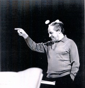 Pierre Boulez, rehearsing at the Ojai Music Festival in 1989