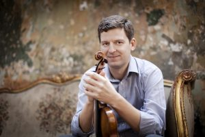 James Ehnes, with darkly baritonal Strad. Photo (c) Benjamin Ealovega